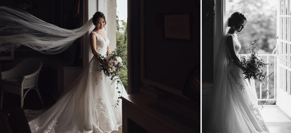 bride portrait vancouver wedding photography bc hycroft