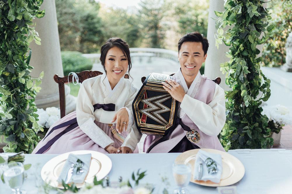 vancouver korean wedding photography hycroft manor terrace reception