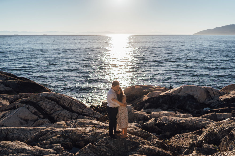 west vancouver lighthouse park engagement photography vsco summer sunset