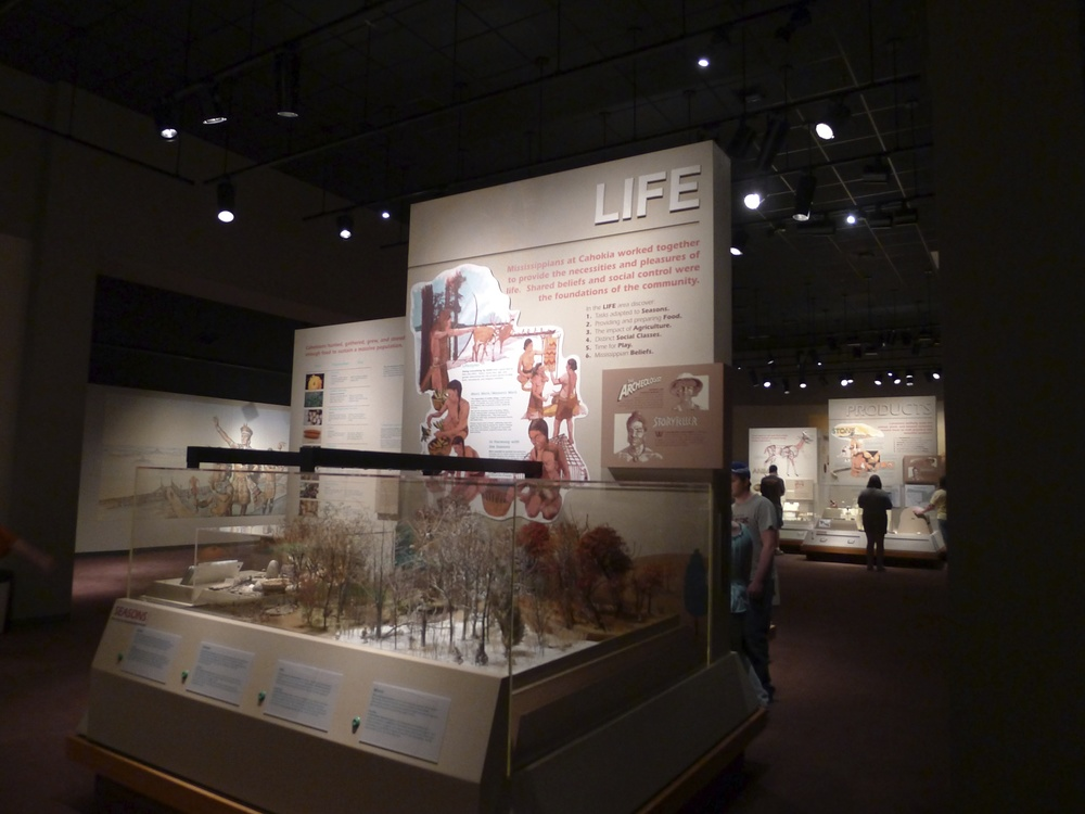 We use museums to construct stories of the past. To provide a point of contrast, take a look at how these archeologists and specialists chose to tell the story of native american civilization at The Cahokia Mounds.