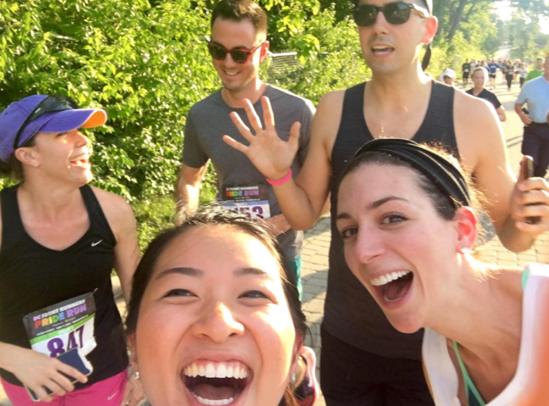 This is what we look like running a 5k (we're more athletic than we look). While we all take our work very seriously, none of us take ourselves too, too seriously.