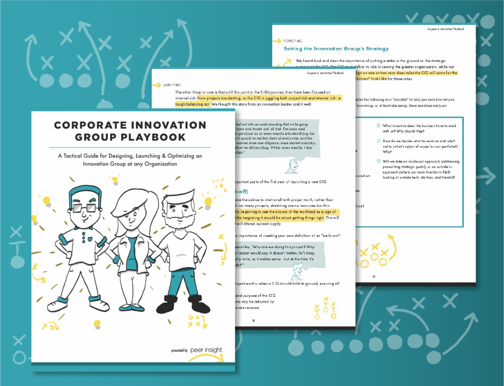 FREE Corporate Innovation Groups Ebook - A Tactical Guide for Designing, Launching & Optimizing an Innovation Group at any Organization