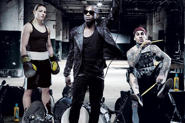 KATIE TAYLOR, TINIE TEMPAH, TRAVIS BARKER FOR LUCOZADE