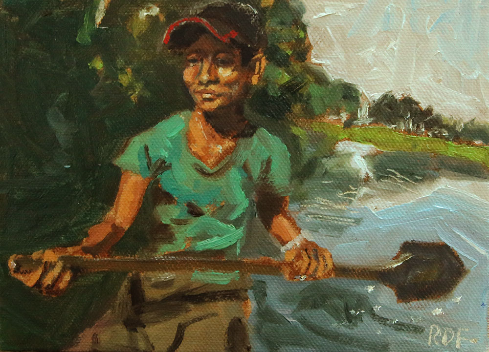 "The River, 5""x7"" oil on canvas board-  Click here to see it in my Etsy Shop"
