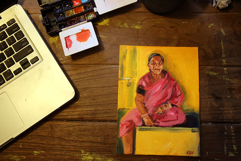 Woman in Pink- Click here to see it in my Etsy Shop.