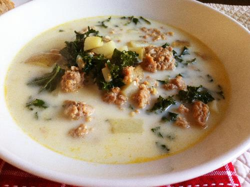 creamy kale and sausage soup | hello, sweetie!