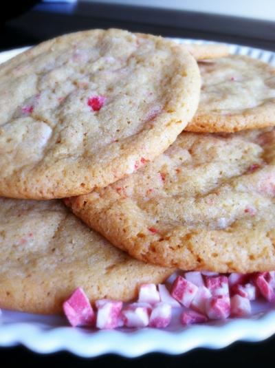 chewy vanilla peppermint cookies | hello, sweetie!