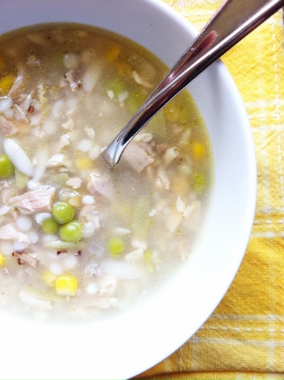 turkey orzo soup with lemon | hello, sweetie!