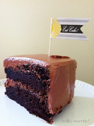 chocolate layer cake | hello, sweetie!