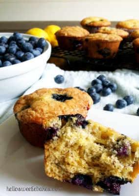 banana blueberry lemon muffins | hello, sweetie!