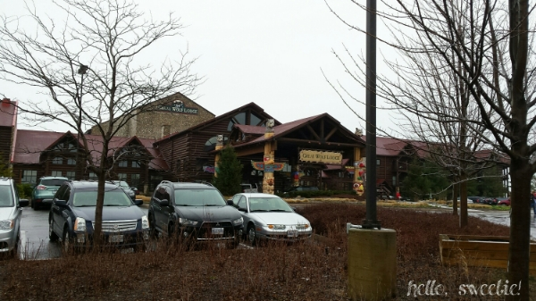 main entrance to Great Wolf Lodge