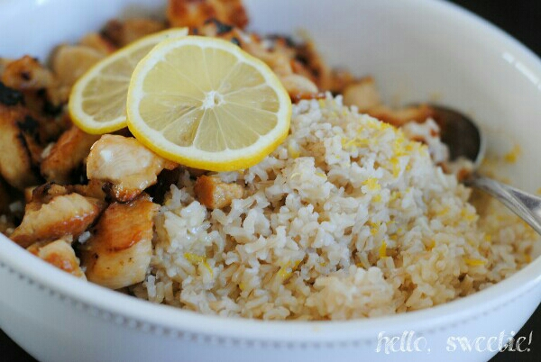 sprinkle zest over hot rice for extra flavor