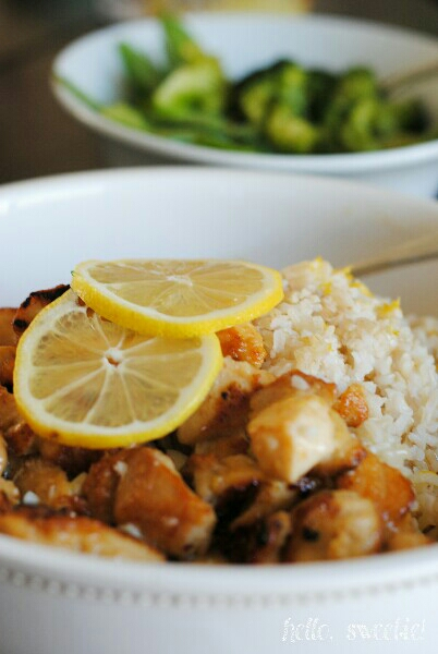 sweet & tangy lemon chicken with veggies