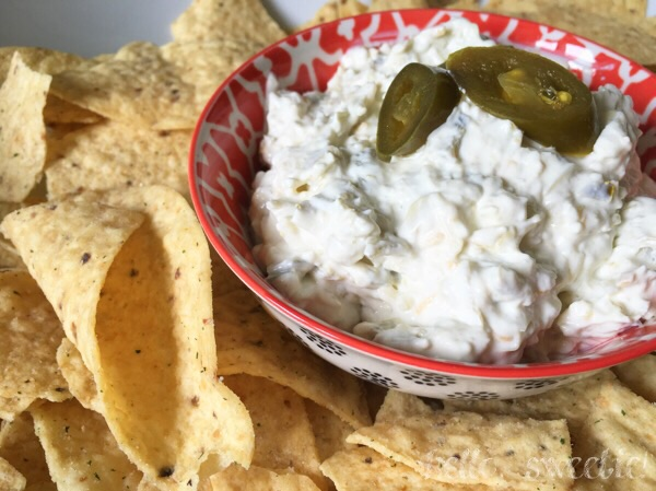 Spicy jalapeños are a great match for the yogurt & cream cheese!
