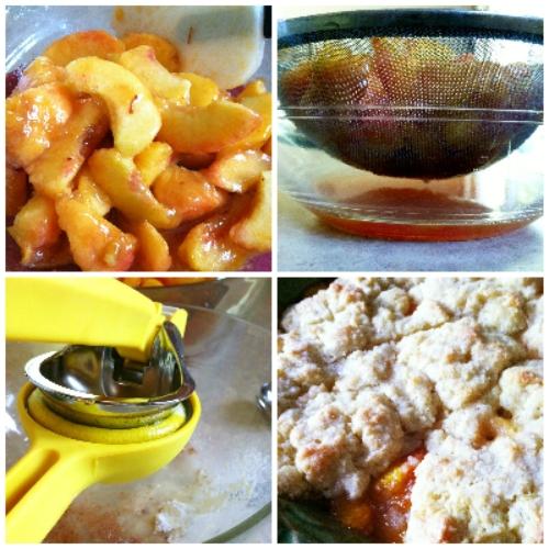 making peach cobbler | hello, sweetie!