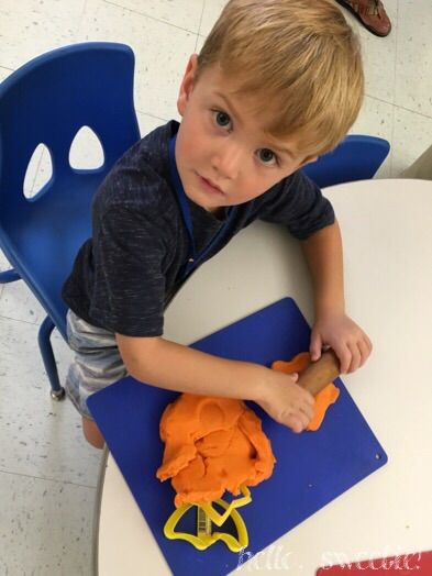homemade play dough fun, at school!