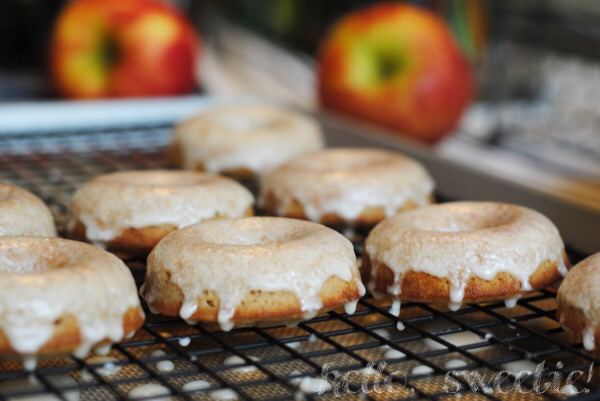 apple cider in the glaze gives these spiced donuts a double dose of fruity flavor