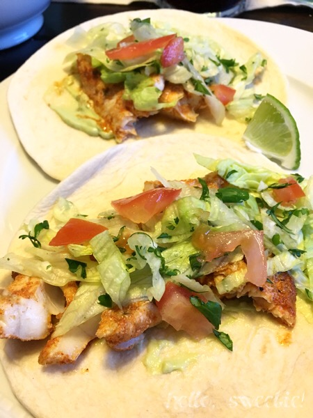 spiced, oven baked fish tacos