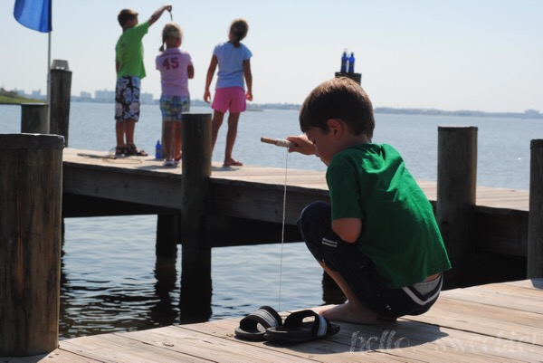 """Crabbing"" at the Point in Bayside."