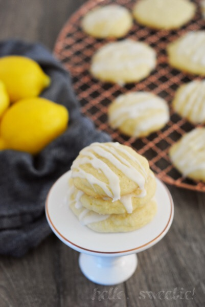 Glazed Lemon Sugar Cookies | Hello, Sweetie!