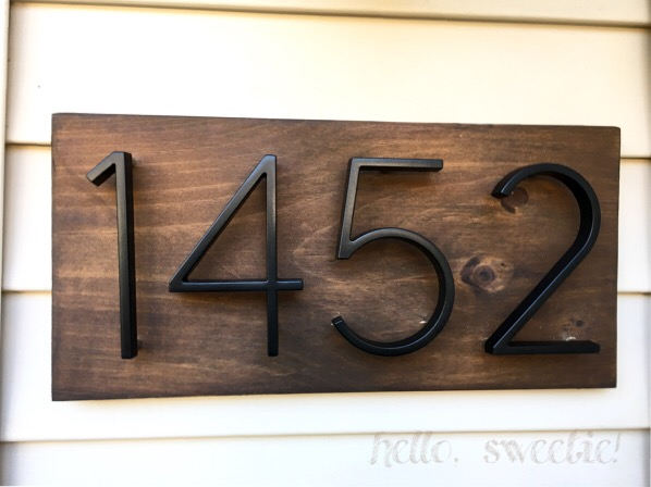 An easy project for house number display | hello, sweetie!
