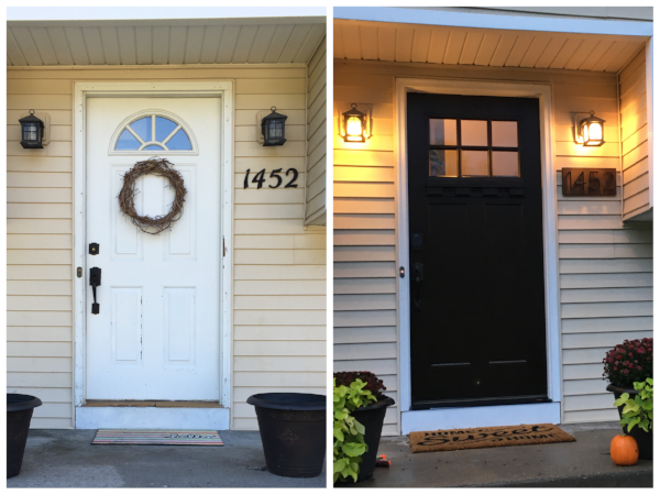 Before & After: just a few updates to our front entryway | hello, sweetie!