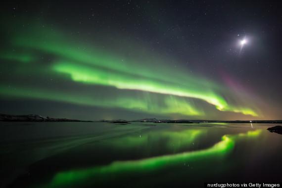 Aurora Borealis, over Iceland.