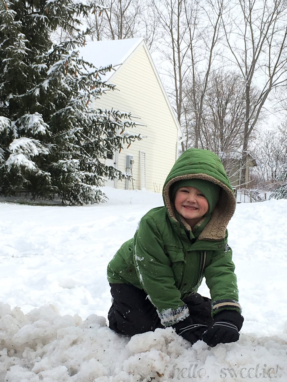 With enough layers on, kids can stay outdoors for hours!
