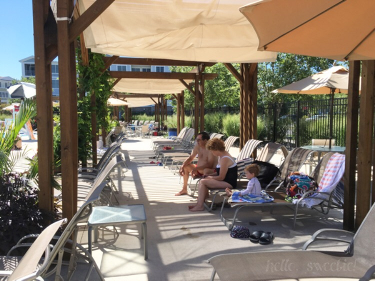 One of our favorite places to hang out and relax was under the shade of these pergolas.