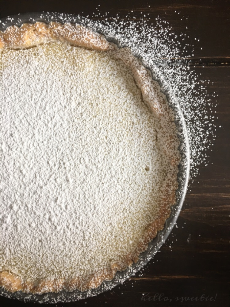 Sifting confectioners' sugar over the top not only makes it look so pretty, but it nicely balances the tartness from the citrus. Garnish with a few thin lime slices, cut & serve. Get ready for the high praise!