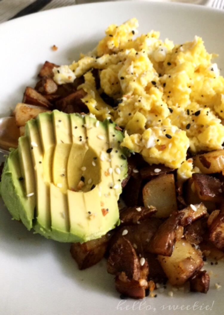Avocados really helped fill the cheese void, and we consumed nearly double the amount of eggs we normally do in a month!