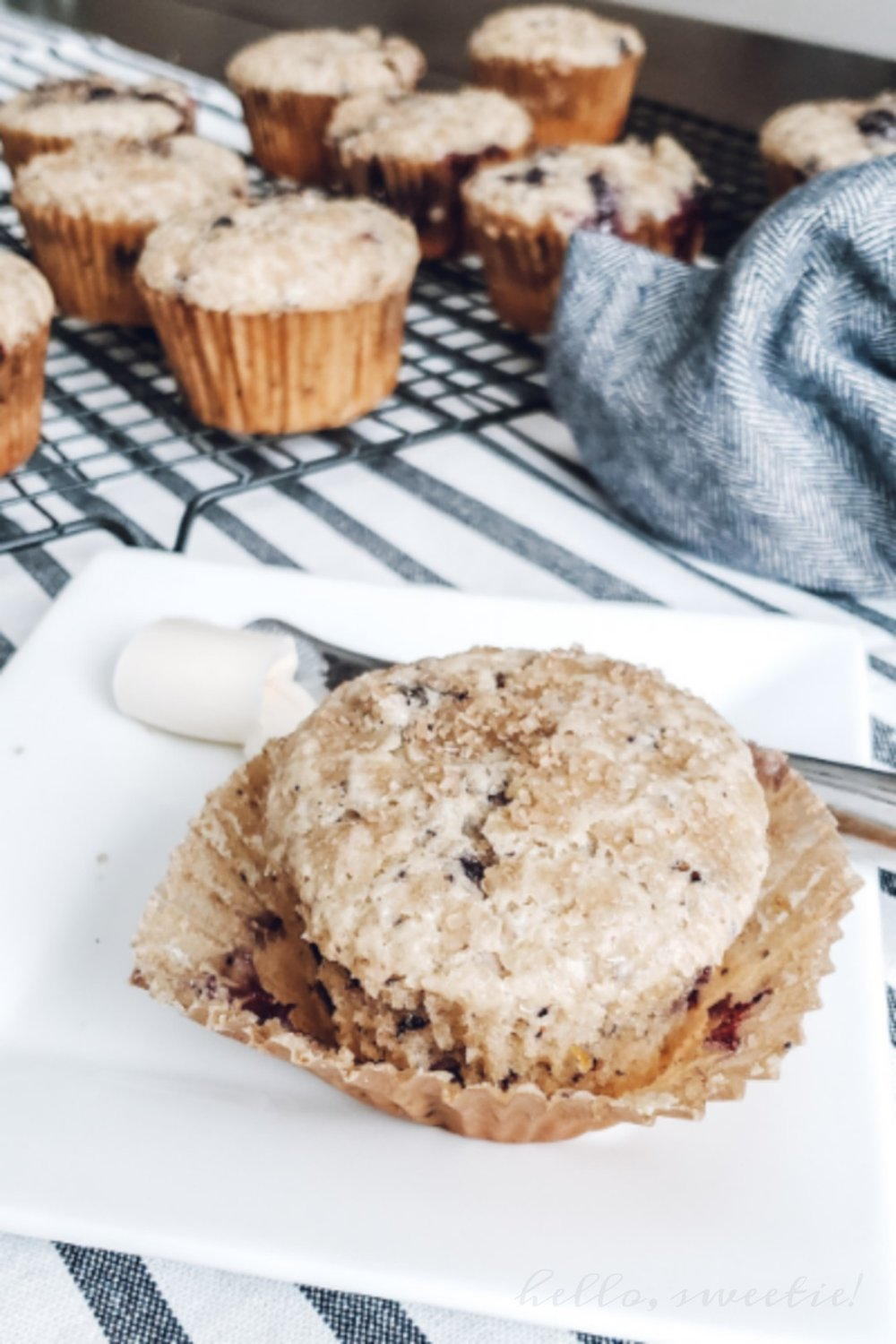 We love to slather that first, still-warm muffin with creamy butter, or a drizzle of honey