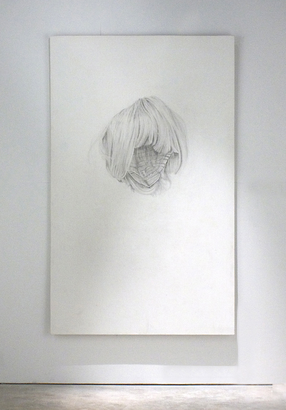 "'Empty Wig',  120 x 150 cm   Pencil and silver point on gesso board                                0     false             18 pt     18 pt     0     0         false     false     false                                                     /* Style Definitions */ table.MsoNormalTable 	{mso-style-name:""Table Normal""; 	mso-tstyle-rowband-size:0; 	mso-tstyle-colband-size:0; 	mso-style-noshow:yes; 	mso-style-parent:""""; 	mso-padding-alt:0cm 5.4pt 0cm 5.4pt; 	mso-para-margin:0cm; 	mso-para-margin-bottom:.0001pt; 	mso-pagination:widow-orphan; 	font-size:10.0pt; 	font-family:""Times New Roman""; 	mso-ascii-font-family:Cambria; 	mso-ascii-theme-font:minor-latin; 	mso-hansi-font-family:Cambria; 	mso-hansi-theme-font:minor-latin; 	mso-ansi-language:EN-US;}                                             0     false             18 pt     18 pt     0     0         false     false     false                                                     /* Style Definitions */ table.MsoNormalTable 	{mso-style-name:""Table Normal""; 	mso-tstyle-rowband-size:0; 	mso-tstyle-colband-size:0; 	mso-style-noshow:yes; 	mso-style-parent:""""; 	mso-padding-alt:0cm 5.4pt 0cm 5.4pt; 	mso-para-margin:0cm; 	mso-para-margin-bottom:.0001pt; 	mso-pagination:widow-orphan; 	font-size:10.0pt; 	font-family:""Times New Roman""; 	mso-ascii-font-family:Cambria; 	mso-ascii-theme-font:minor-latin; 	mso-hansi-font-family:Cambria; 	mso-hansi-theme-font:minor-latin; 	mso-ansi-language:EN-US;}                                             0     false             18 pt     18 pt     0     0         false     false     false                                                     /* Style Definitions */ table.MsoNormalTable 	{mso-style-name:""Table Normal""; 	mso-tstyle-rowband-size:0; 	mso-tstyle-colband-size:0; 	mso-style-noshow:yes; 	mso-style-parent:""""; 	mso-padding-alt:0cm 5.4pt 0cm 5.4pt; 	mso-para-margin:0cm; 	mso-para-margin-bottom:.0001pt; 	mso-pagination:widow-orphan; 	font-size:10.0pt; 	font-family:""Times New Roman""; 	mso-ascii-font-family:Cambria; 	mso-ascii-theme-font:minor-latin; 	mso-hansi-font-family:Cambria; 	mso-hansi-theme-font:minor-latin; 	mso-ansi-language:EN-US;}"