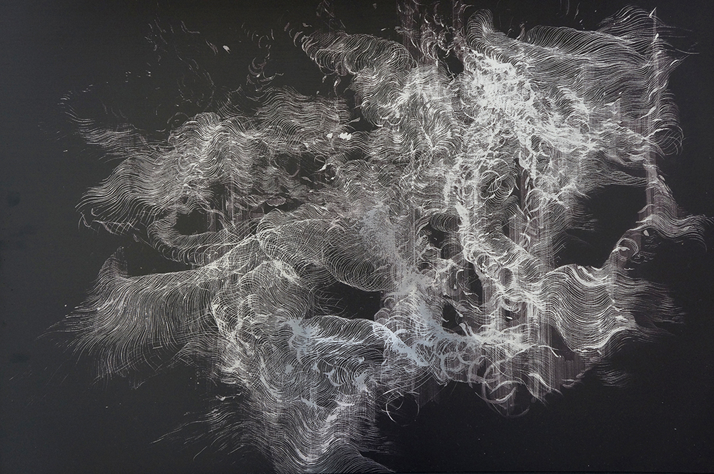 'Inversion', Print on polished steel, 100 x 70 cm (2014)