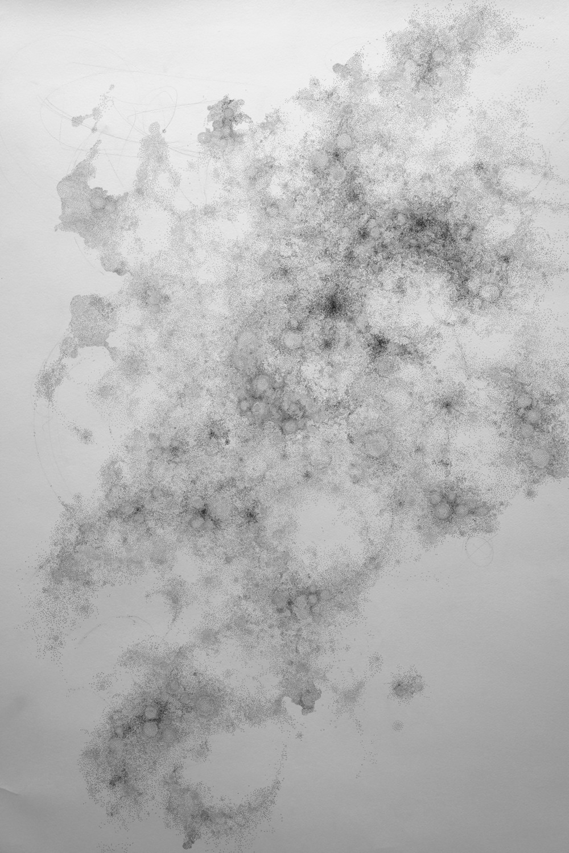 'scotomo'  ink on paper, 100 x 150 cm