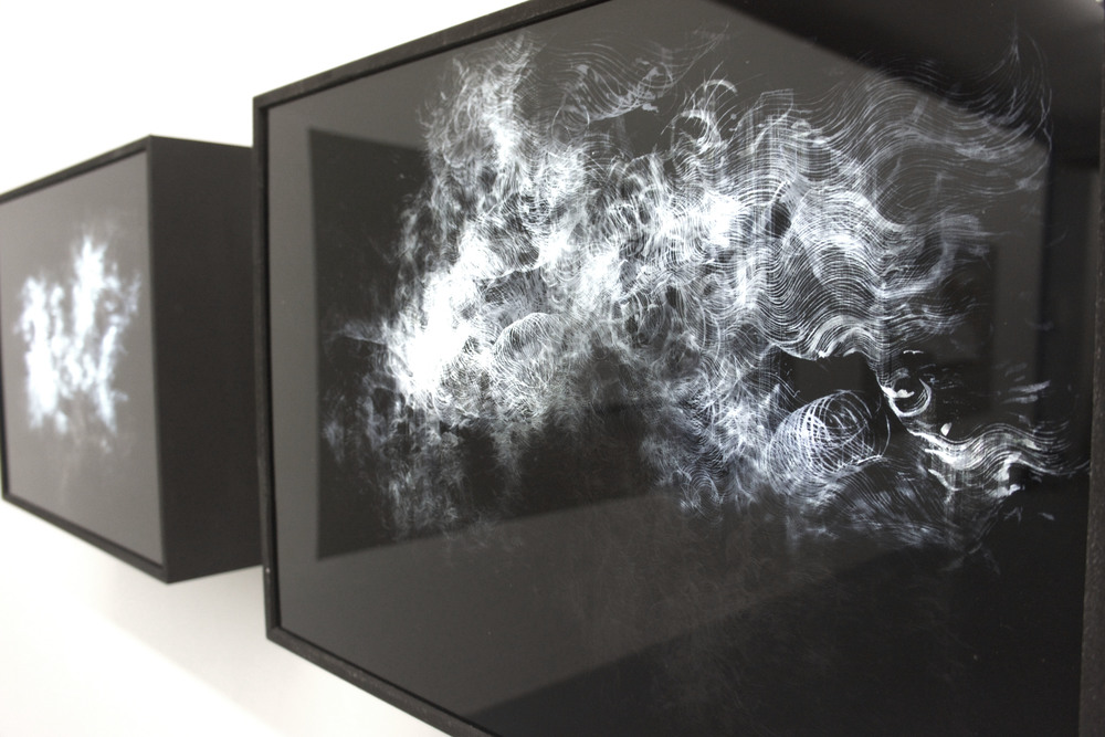 'psūkhē ' ,  70 x 50 cm,   two layers of printed perspex over lightbox, (2014)
