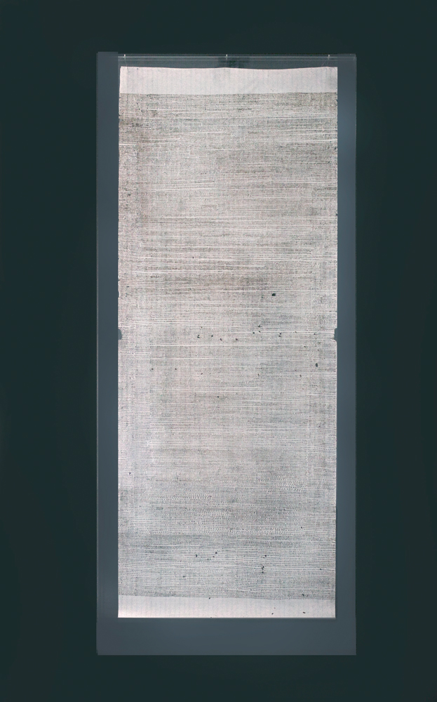 ' 24 hour drawing [24 hours]  incense burnt rice paper, 188 x 80 cm
