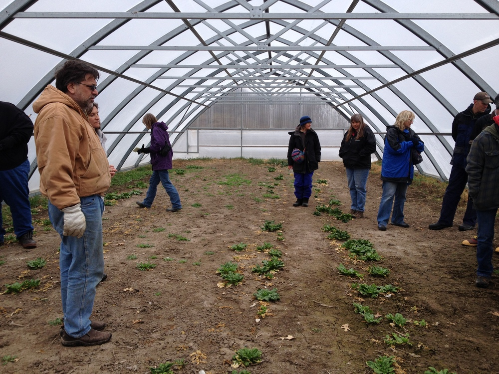 A custom-built portable hoop house at Primrose Valley