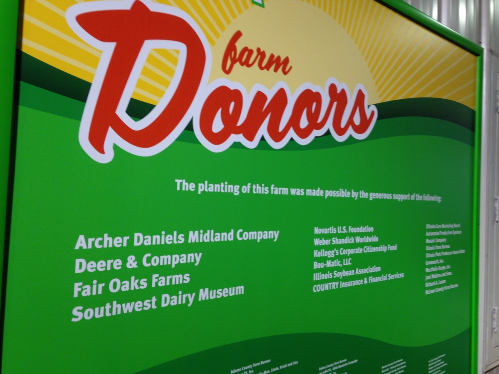 Some of the many sponsors that made the Farm Tech exhibit possible.