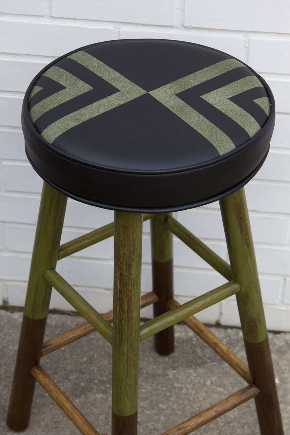 "Chevron Stool  |  26"" h x 13"" w   