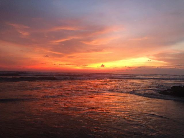 Beautiful sunset in Canggu a few nights ago 🌅