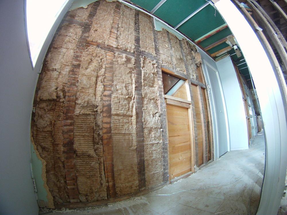 Hallway wall