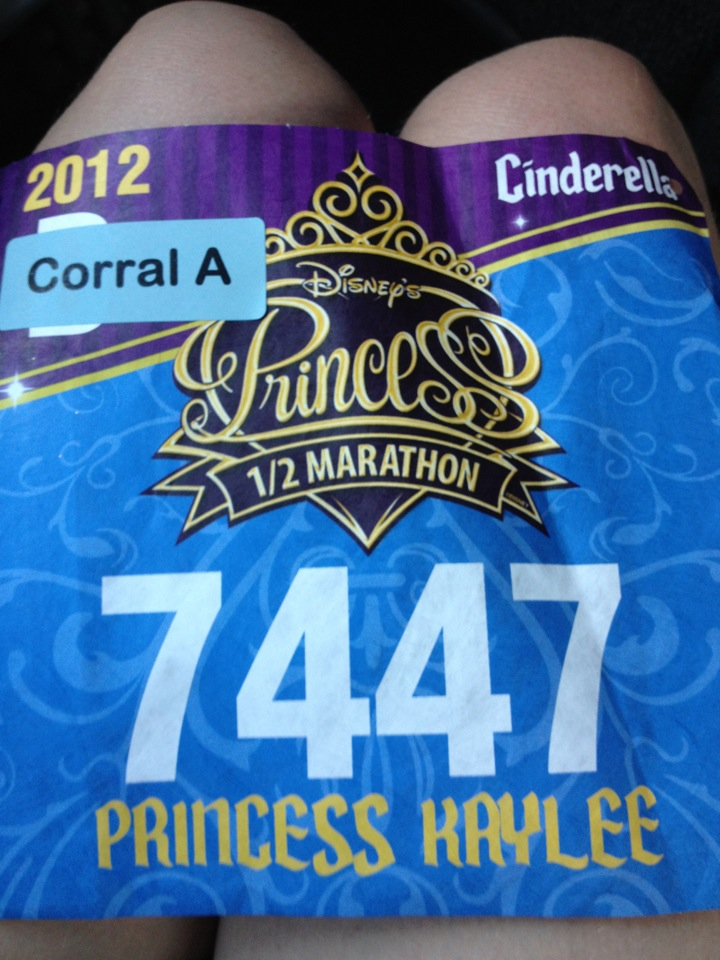 The reality was starting to hit - my first official bib with my name on it AND corral A!