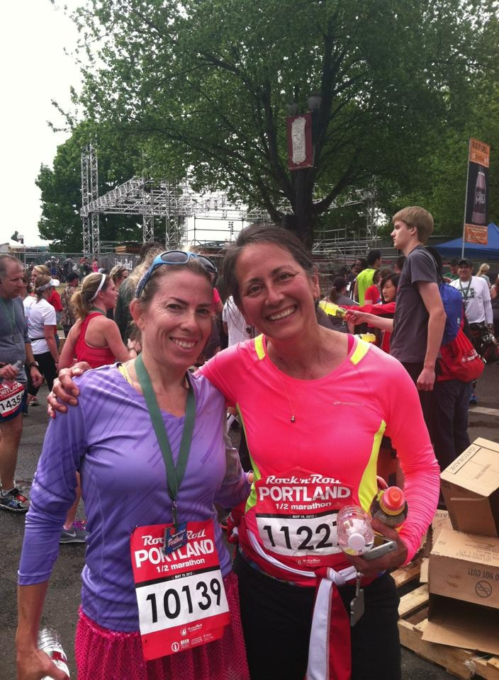 Mary and I at the finish!