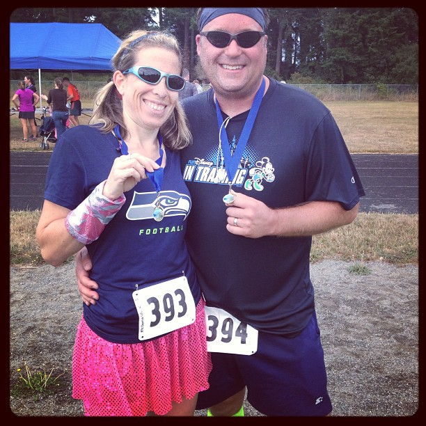 Post 10K last weekend with Scott.  He is starting his training for the Wine & Dine Half in November!