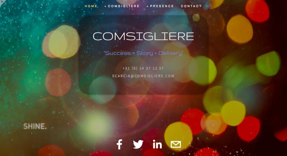 Comsigliere   onze oude website was een mooi experiment