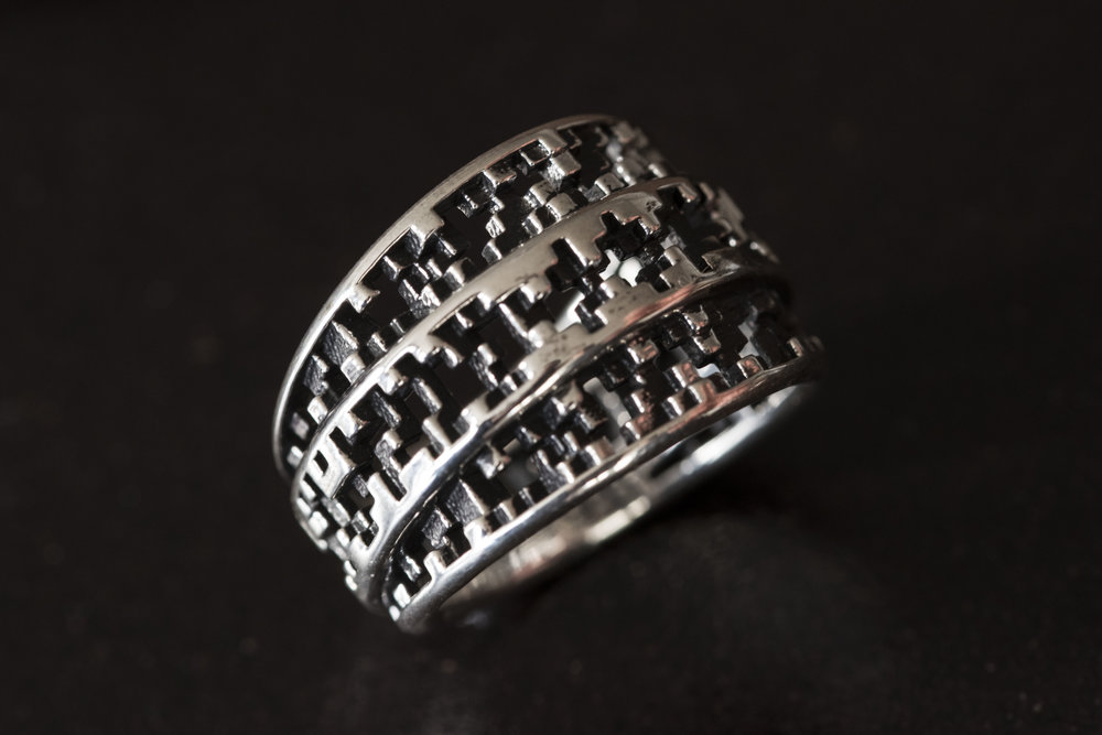 tapered pixel ring