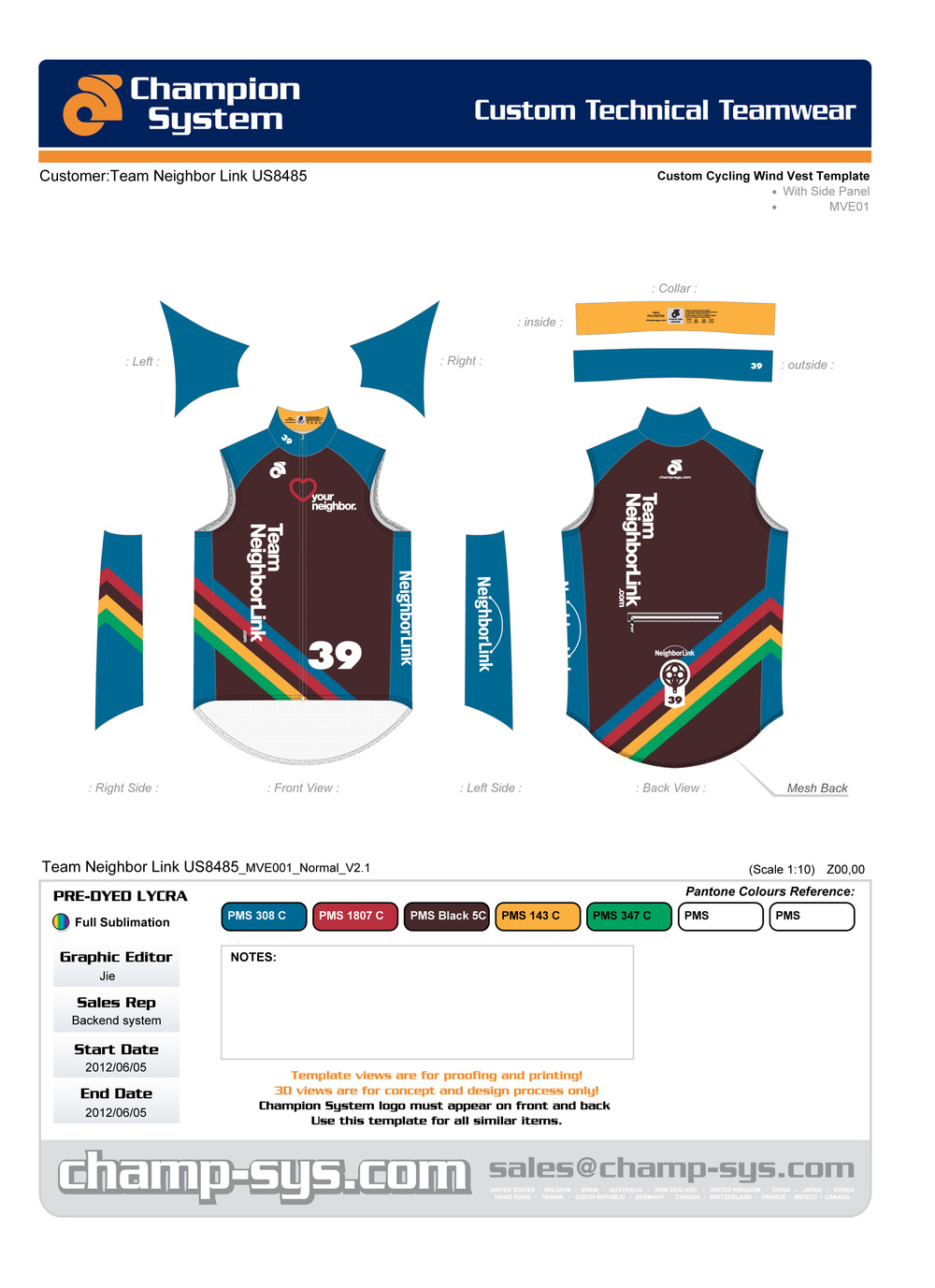 Cycling Wind Vest Design