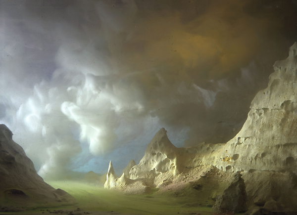 "Kim Keever ""Turtle Skull Rock"" Courtesy the artist and Kinz & Tillou Fine Art"