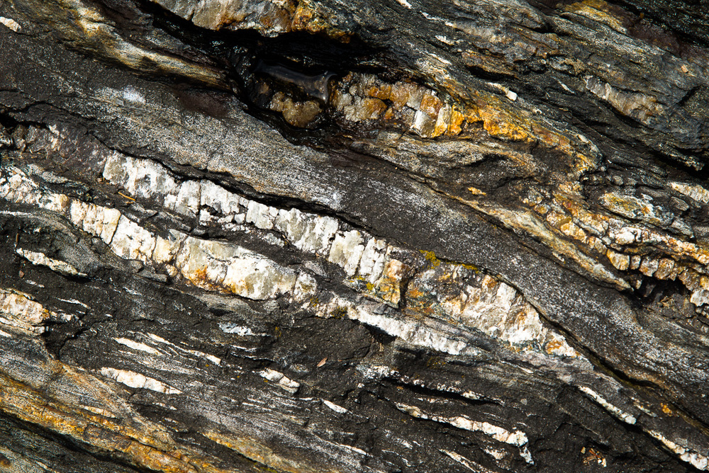 Striated rock